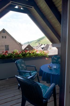 Balkon im Dachgiebel