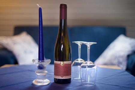 gerne auch mit Wein